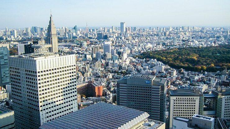 Vedere Tokyo dall'alto