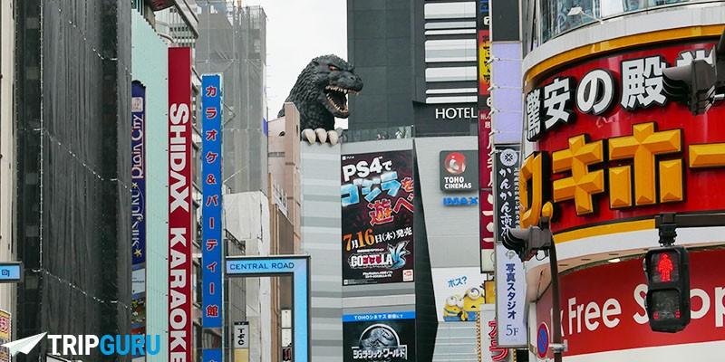 La testa di Godzilla