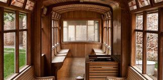 Sauna all'interno di un Tram al QC Terme Milano