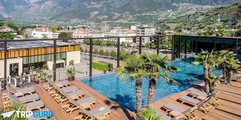 Sky Spa dell'Hotel Terme di Merano